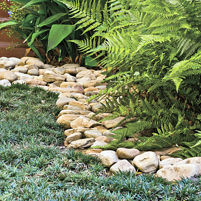 Craftionary for Decorative stone garden border