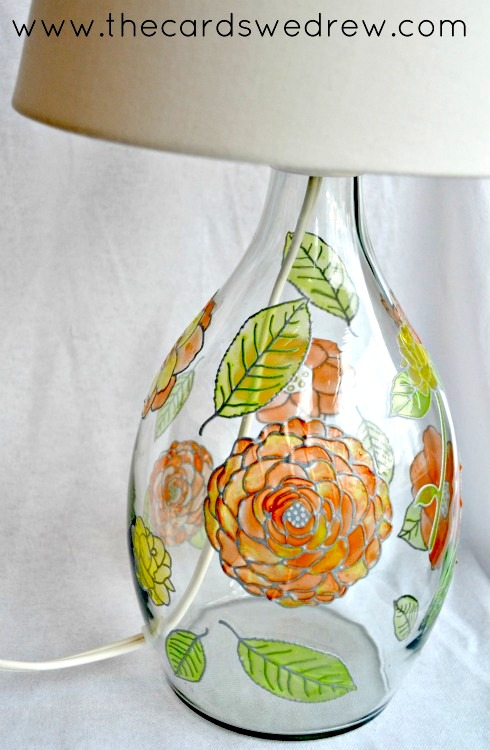 STAINED GLASS PAINTING LAMP