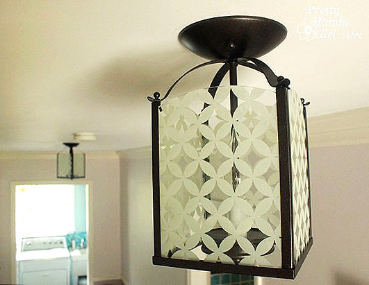 Perfect GLASS PAINTING LIGHT FIXTURE
