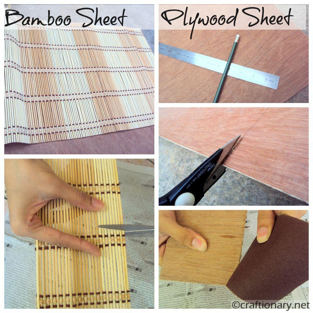 make coasters using bamboo and plywood