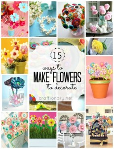 15 Mothers day flowers (Making decorative flowers)