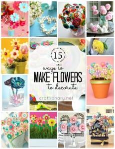making decorative flowers
