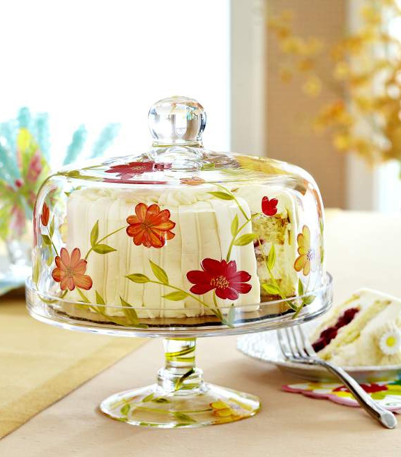 STAIN GLASS CAKE STAND