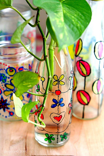 STAINED GLASS PLANTERS GIFT