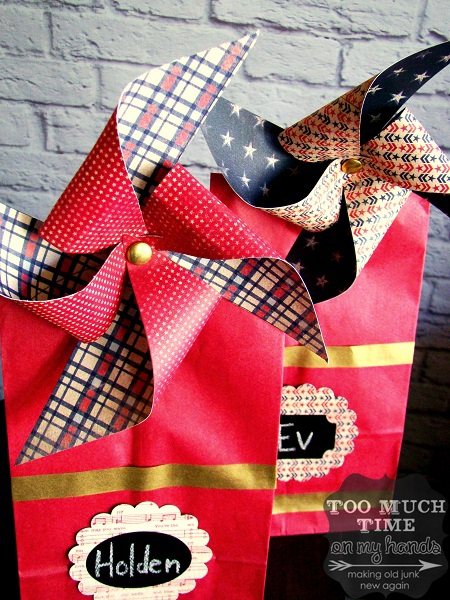 patriotic kids treat bags