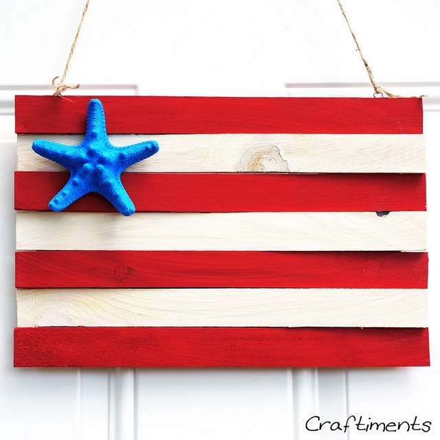 patriotic wood flag