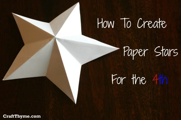Craftionary for How to make 3d paper stars easy