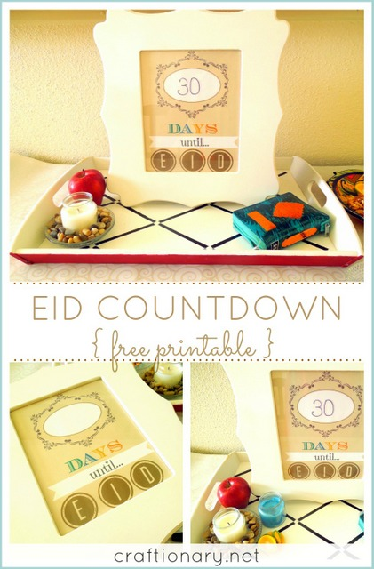 eid countdown free printable
