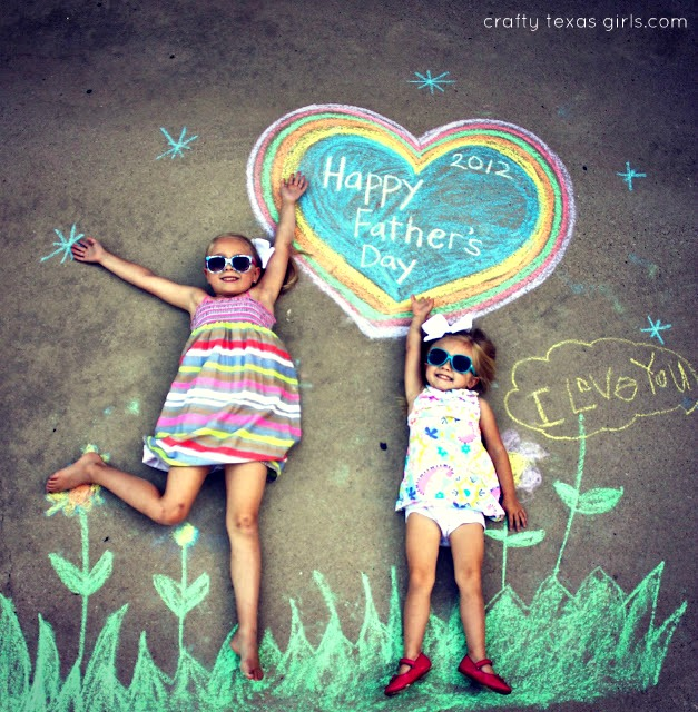 fatehrs day photo chalkboard paint