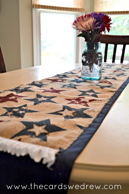 patriotic day table runner