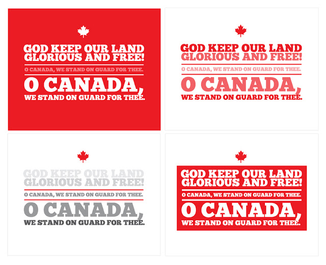 oh canada printable
