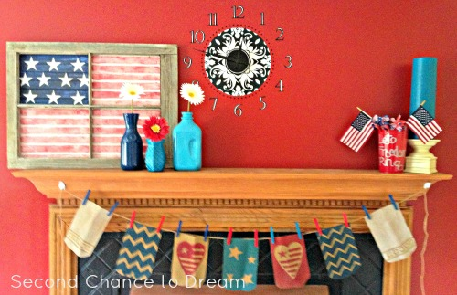 patriotic bunting mantle