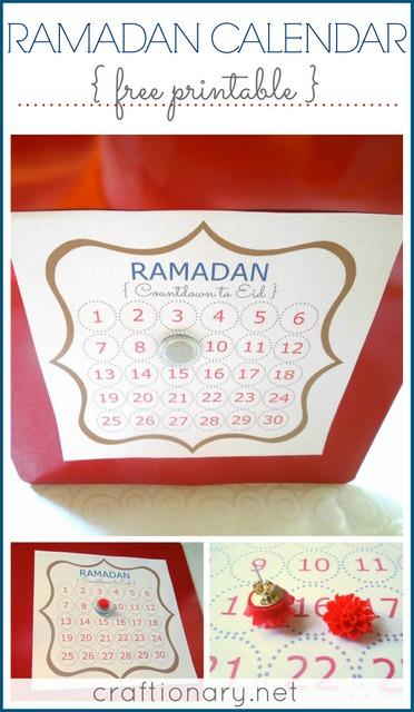 ramadan calendar printable