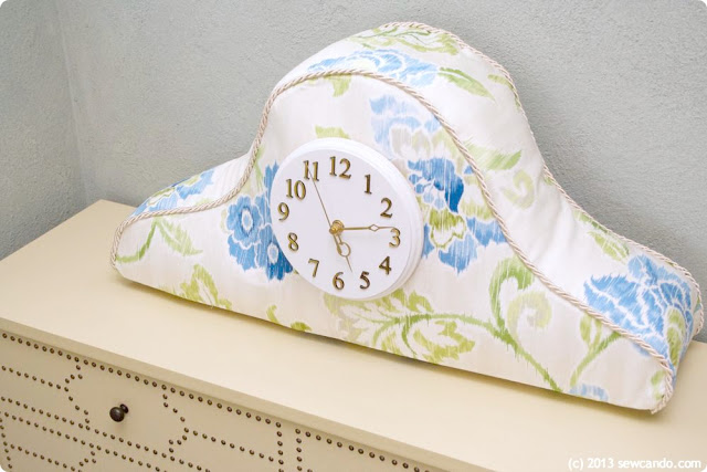diy fabric mantel clock
