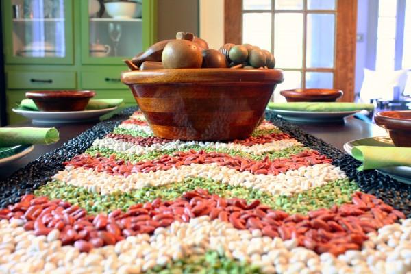 DIY fall beans table