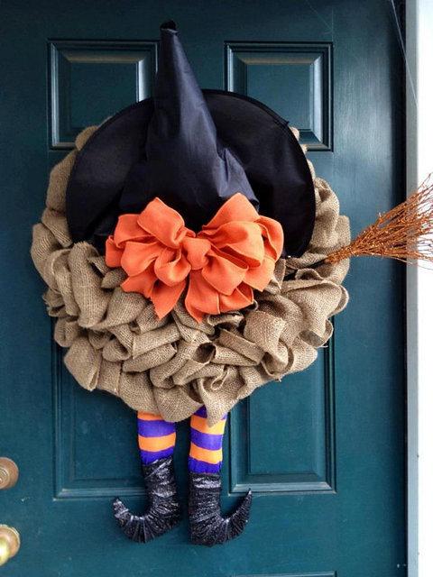 Halloween Wreath Witch Legs