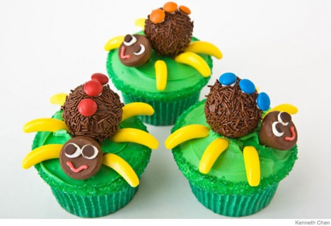 spiders cupcakes