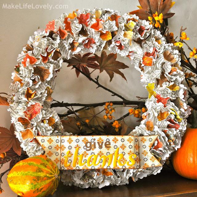 DIY thanksgiving paper wreath