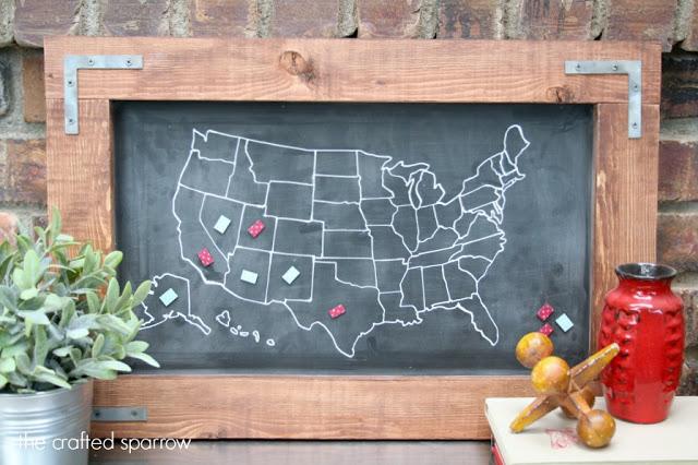 DIY travel map craft