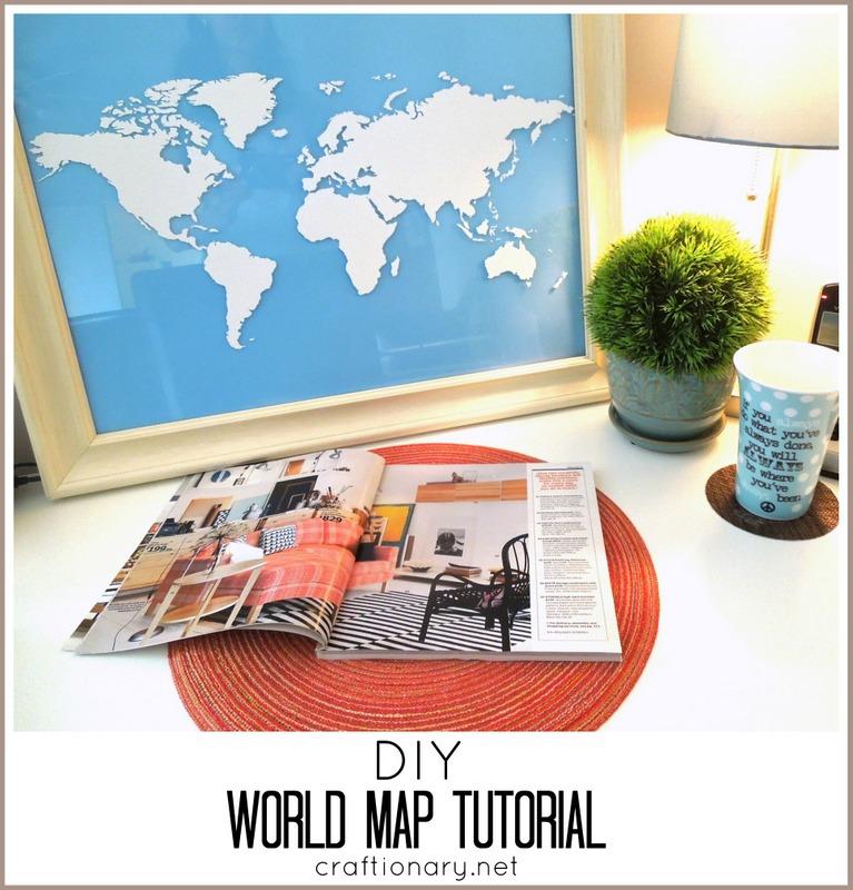 Inspirational DIY world map