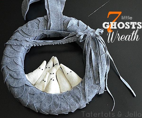 DIY ghost tutorial wreath
