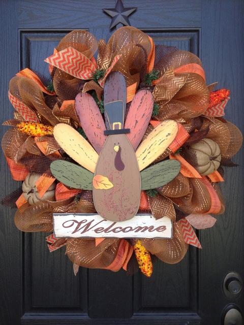 DIY turkey wreath tutorial
