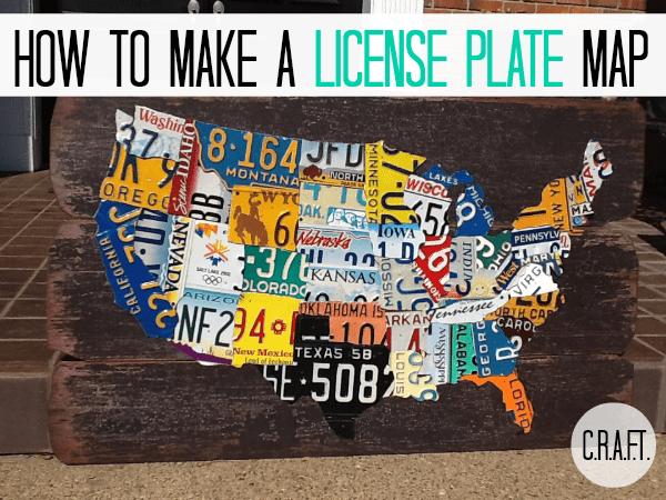 Craftionary - Us state map diy photos