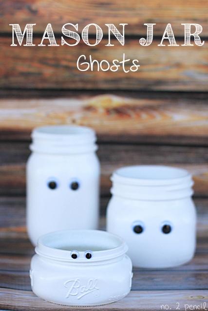 mason jar ghosts tutorials