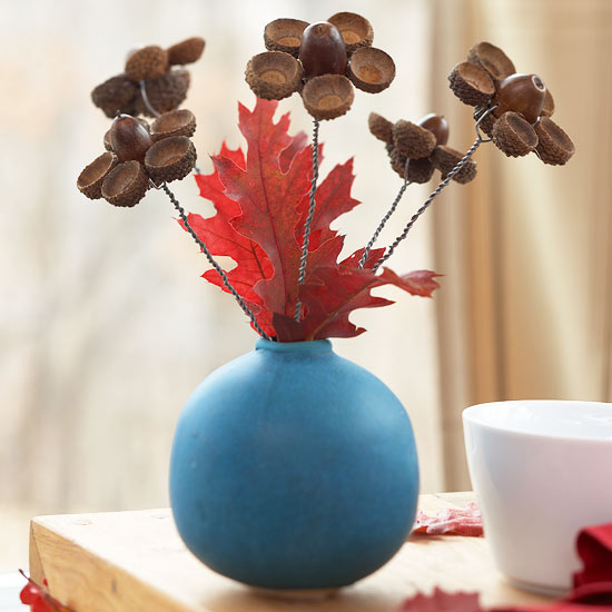 acorn flower vase tutorial