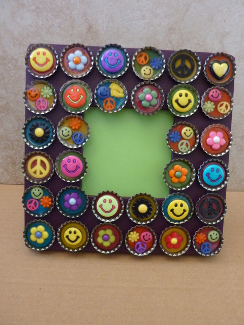 bottle cap frame