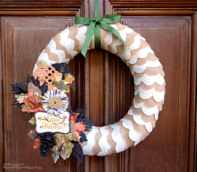 burlap thanksgiving thankful wreath