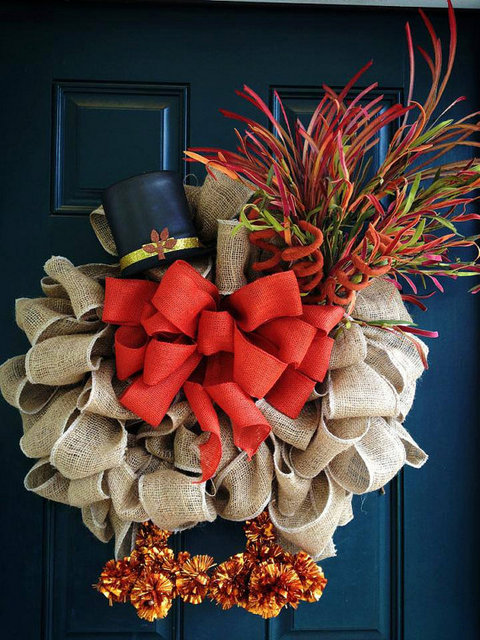 Best Thanksgiving Wreaths on Halloween Crafts With Pine Cones