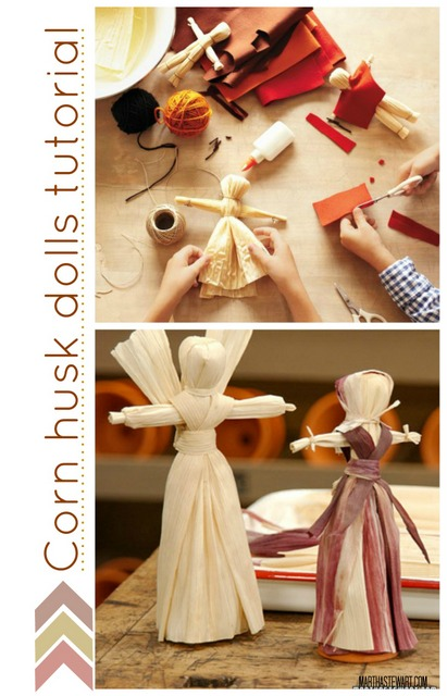 corn husk dolls tutorial fall idea