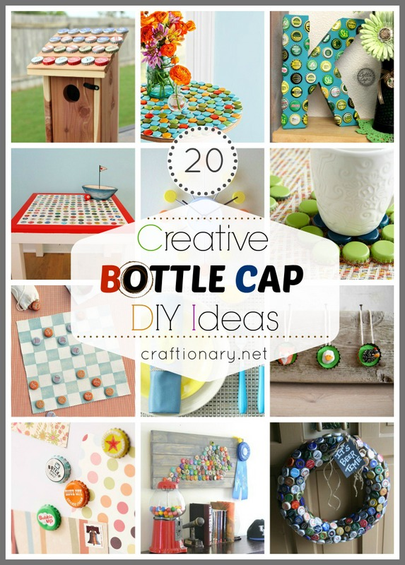 20 Creative Bottle Cap Ideas (Recycle Crafts) - Craftionary
