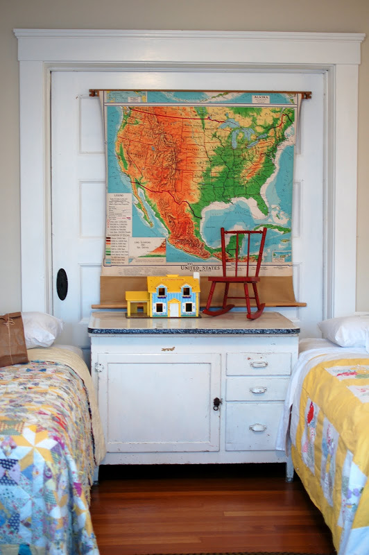 Craftionary - Boys room with maps