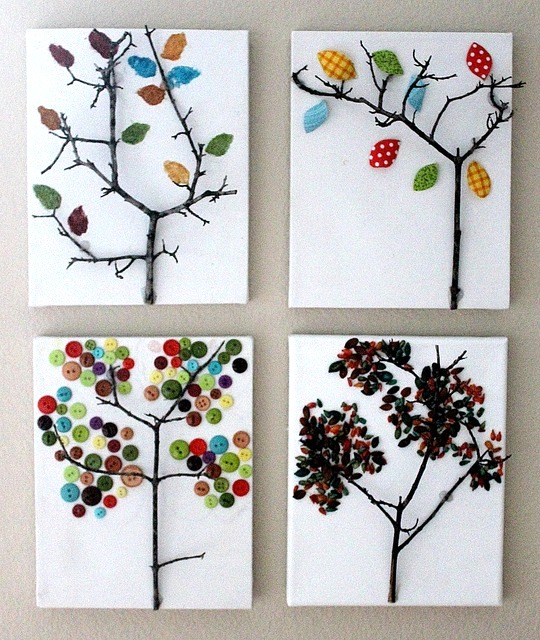 Awesome fall kids crafts twig wall art