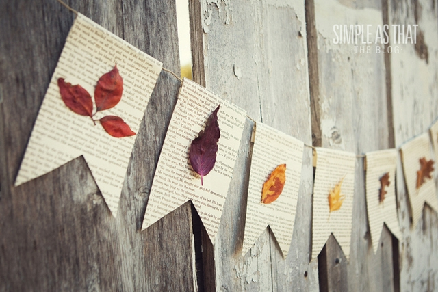 dried leaves garland