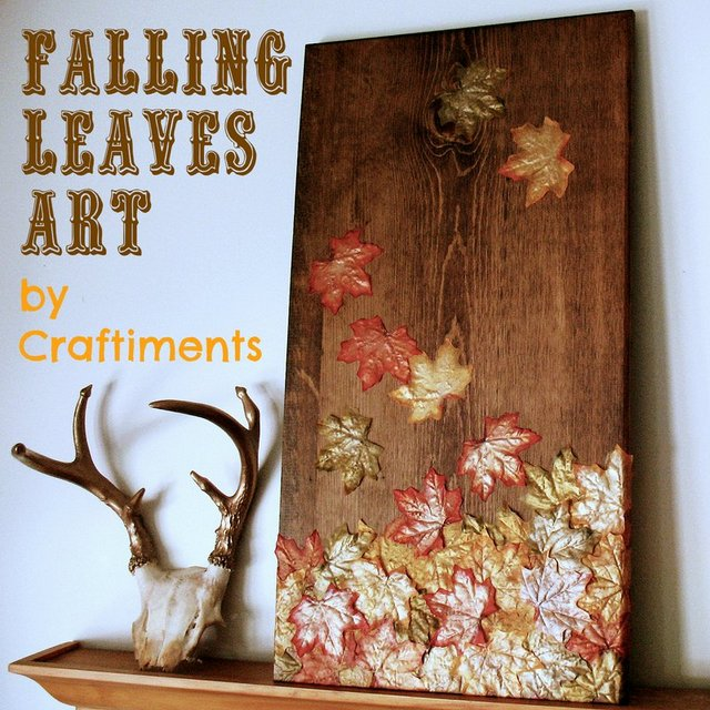 falling leaves autumn art