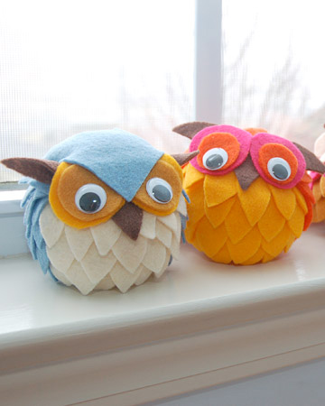 felt owls fall tutorial