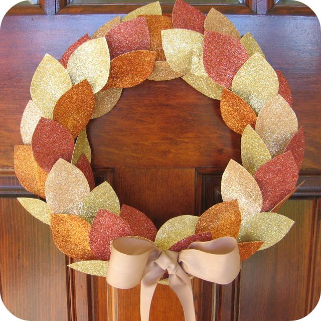 glitter give thanks wreath