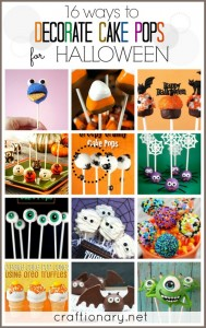 Halloween cake pops cookie pops decorating ideas