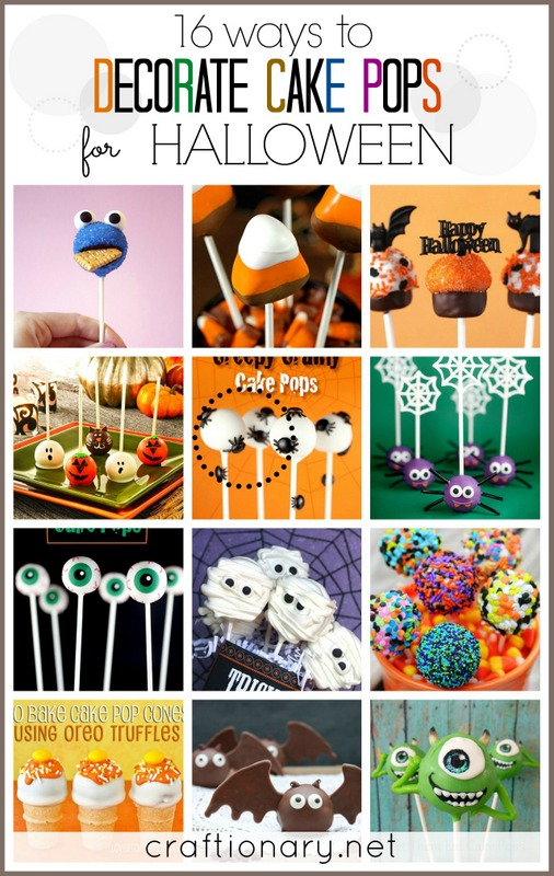 Halloween cake pops cookie pops