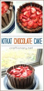 Kitkat Chocolate Cake with strawberries (Easy Recipe)