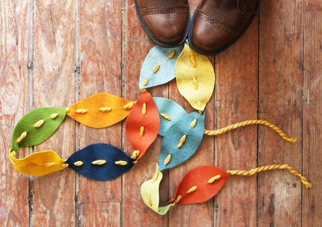 felt leaf garland tutorial for fall