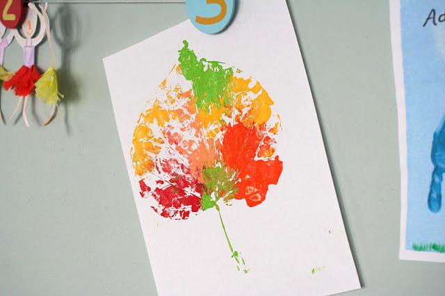 leaf pressed wall art