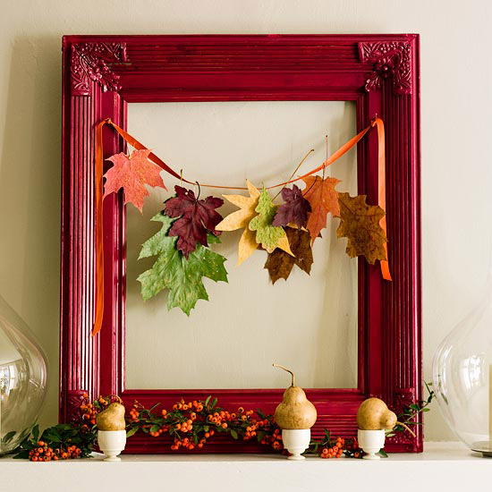leaves garland fall frame