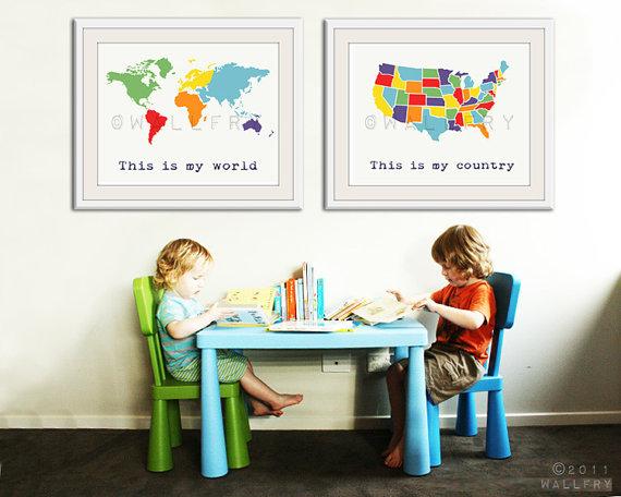 make printable map wall art
