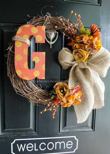 monogram thanksgiving wreath