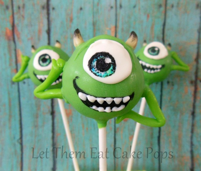 monster cake pops decorating idea