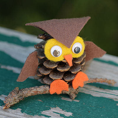 pinecone owls tutorial